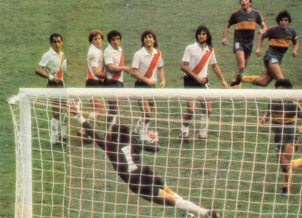 Free kick goal against River Plate 1981