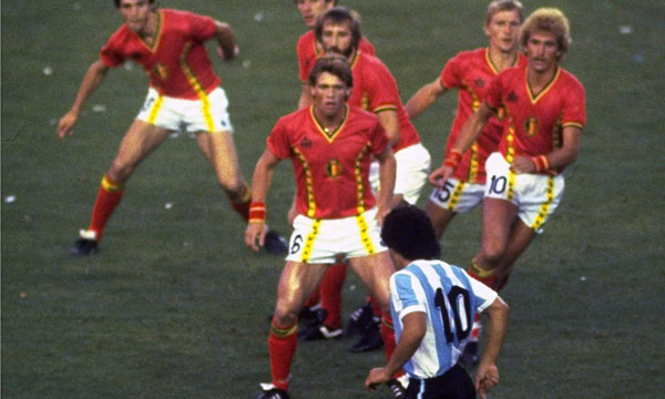 Match against Belgium during the World Cup 1982