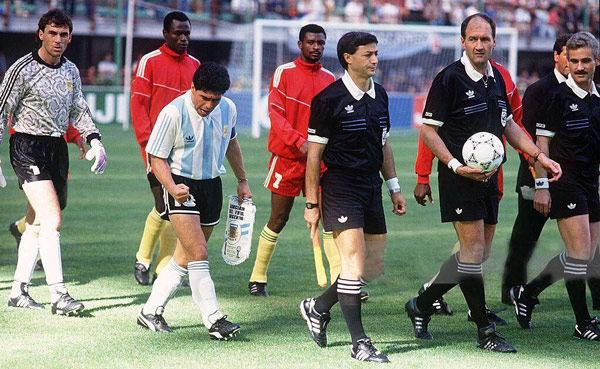 Match against Cameroon, World Cup 1990
