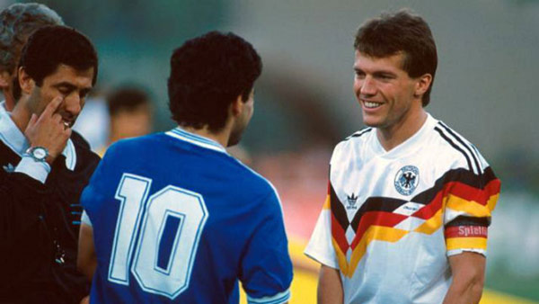 With Lothar Matthaeus – 1990