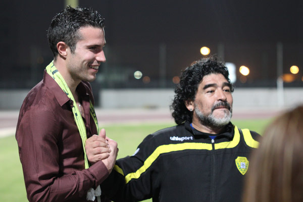 With Robin Van Persie in Dubai