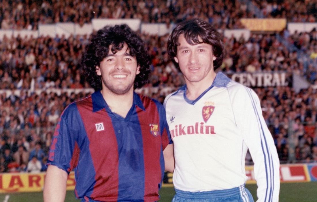 Maradona (Barcelona) and Juan Barbas (Zaragoza)