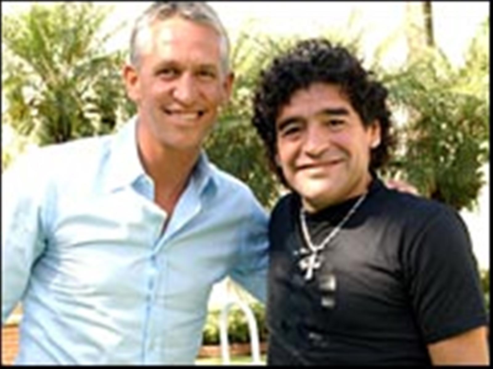 With Gary Lineker