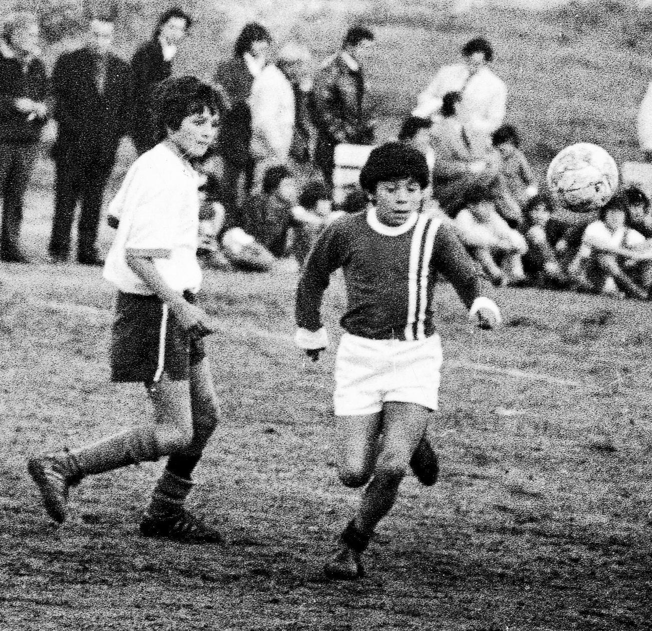 A very young Diego with Los Cebollitas (Argentinos Juniors Academy)