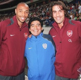 Thierry Henry y Robert Pires