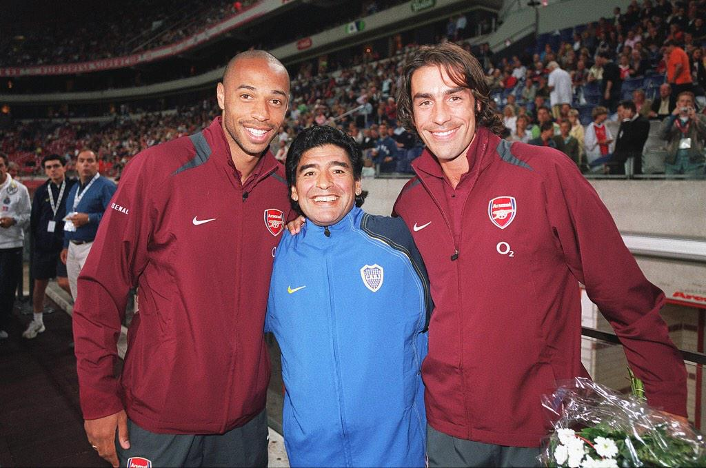 Con Thierry Henry y Robert Pires